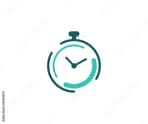 Fotografie, Obraz Clock logo