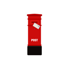 Red Mail Post Box Vector Illus...
