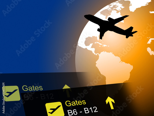 Poster Prune World Flight Means Worldly Globalization And Flights