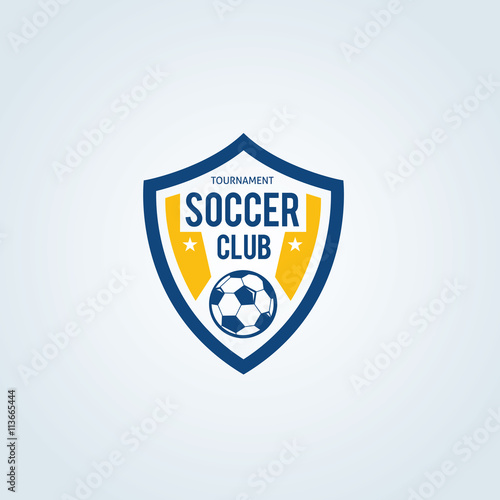 Soccer Club Logosoccer Logofootball Logovector Logo Template