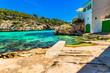 Idyllic view to Cala Santanyi Majorca Coast Bay Landscape