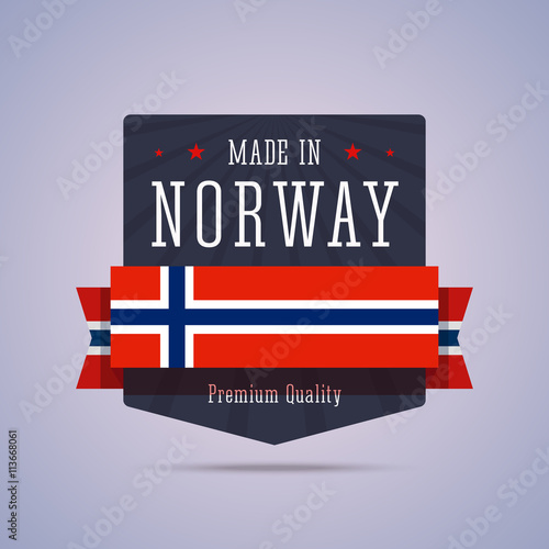 Photo  Made in Norway badge.