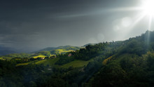 Bad Weather Landscape At Urbino Italy