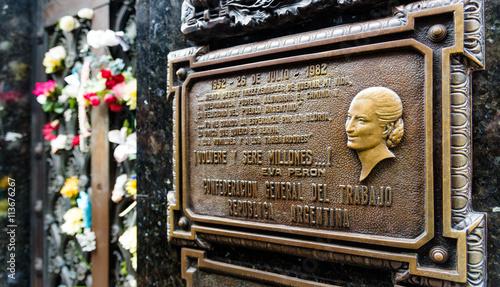 Poster Buenos Aires The tomb of Maria Eva Duarte de Peron