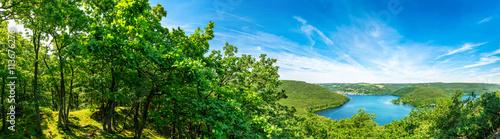 Foto op Canvas Panoramafoto s Panorama Rursee in der Eifel