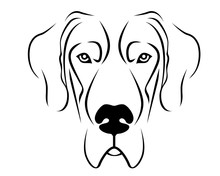 Dog Breed Line Art Logo - Grea...