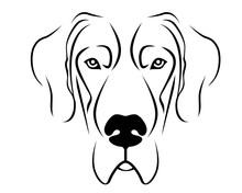 Dog Breed Line Art Logo - Great Dane