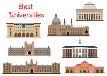Buildings Of Popular National Universities Icons