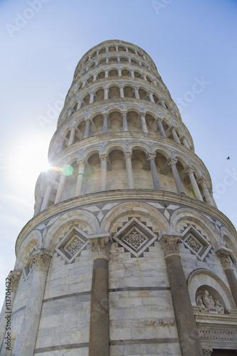 Poster Artistiek mon. Tower of Pisa in Tuscany