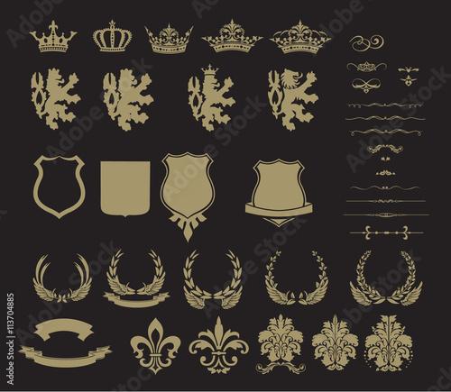 Valokuva Set of heraldic symbol