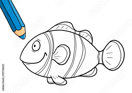 Ausmalbild Clownfisch – kaufen Sie diese Illustration und finden Sie ...