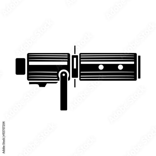 Fotografie, Obraz  Studio lighting equipment icon, simple style