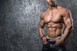 canvas print picture - Muscular male torso
