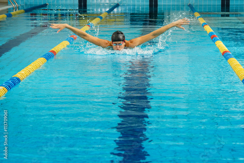 Fotografia Swimmer in the pool