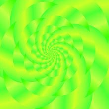 Fractal Design. Abstract  Sphere. Green Spiral Background. Fractal Pattern