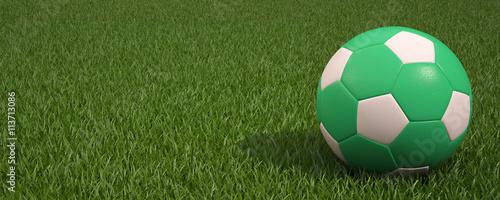 Fotobehang Cultuur Ball On Grass Of Stadium