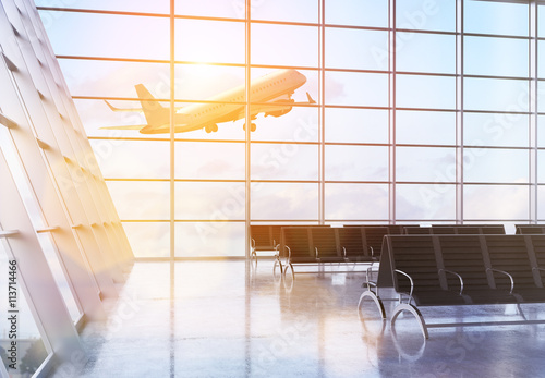 Poster Aeroport Airport with sunlight