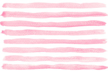 Pink Watercolor Striped Backgr...