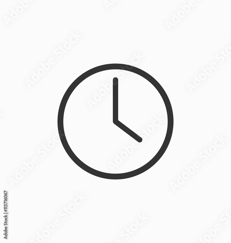 Carta da parati Clock icon vector