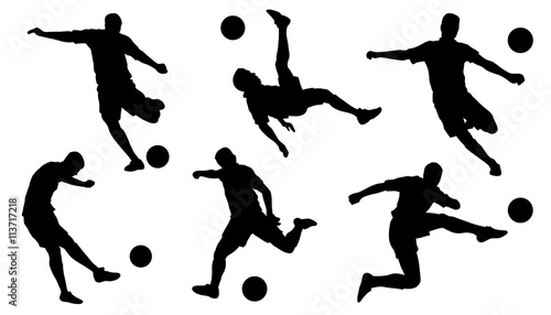 Photo  soccer shoot silhouettes