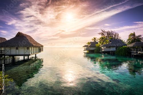 Foto op Aluminium Bali Sonnenuntergang am Meer im Urlaub