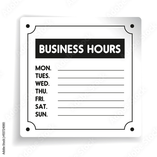 Business hours sign vector template buy this stock vector and business hours sign vector template accmission Images