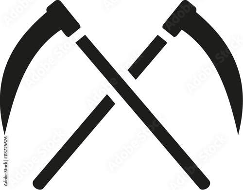 Cuadros en Lienzo Two Scythes crossed