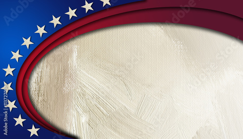 Fotografija  American Stars and Stripes abstract circular background