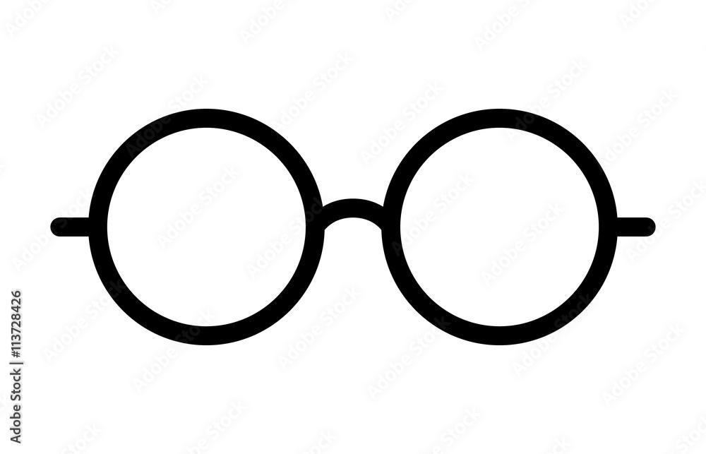 Fototapeta Round glasses or reading eyeglasses line art icon for apps and websites