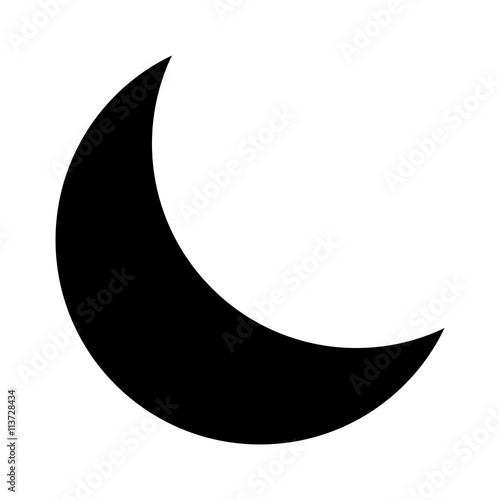 Photo Crescent moon or night / nighttime flat icon for apps and websites