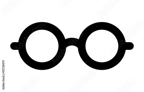 Round glasses or reading eyeglasses line art icon for apps and websites Canvas Print