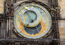 Astronomical Clock At Old Town Hall Tower In Prague