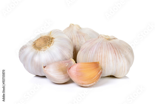 Garlic isolated on the white background