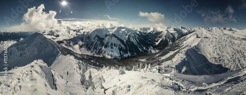 Foto auf Gartenposter Gebirge panorama shot at kicking horse