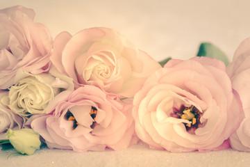 Obraz Gentle Colors of Vintage Flowers Background