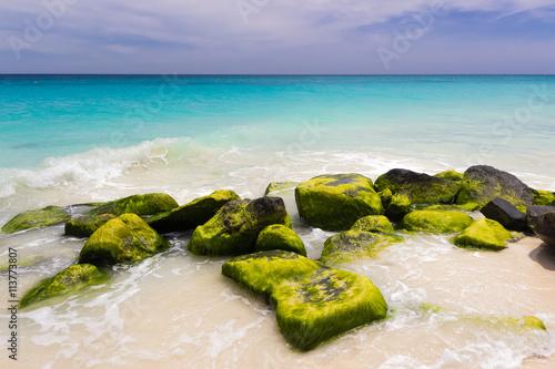Photo  caribbean coast, Aruba