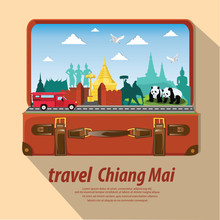 Illustration. Travel Around Ch...