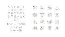Set Of Vector Trendy Icons Plu...