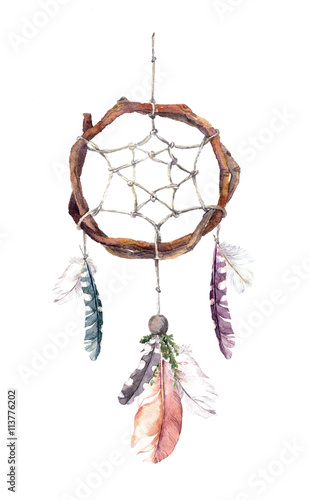 dream-catcher-z-piorami-akwarela