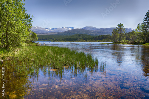 The clear waters of Loch Morlich, Scotland Canvas Print
