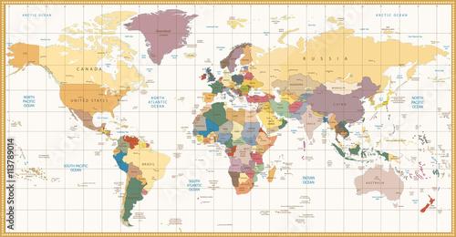 vintage-color-political-world-map