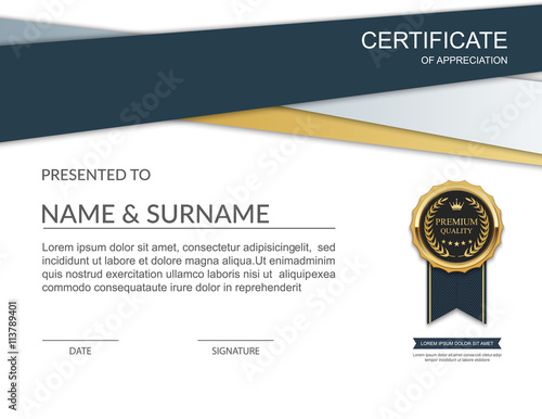 Certificate Template Modern Certificate Template Design Vector