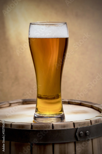 beer glass of beer Canvas Print