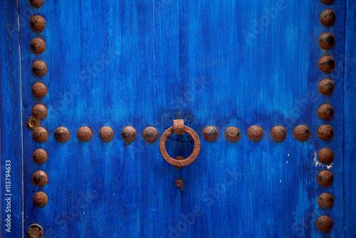 Fotografía  Puerta azul