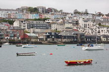 Terraced Housing Overlooking The Deep Water Harbour At Falmouth UK