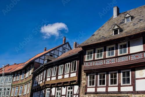 Fotografie, Obraz  Goslar, Fachwerkhäuser