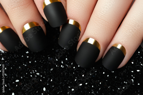 Black matte nail polish Poster