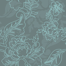 Rose Linear Style Seamless Pat...