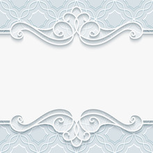 Cutout Paper Frame In Neutral Color