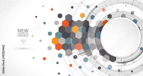 Fototapeta Abstract digital web site header. Banner background obraz